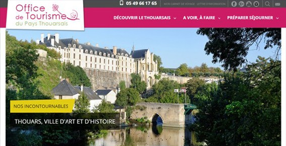 Les sites web cr s par anjou web 49 - Office du tourisme thouars ...